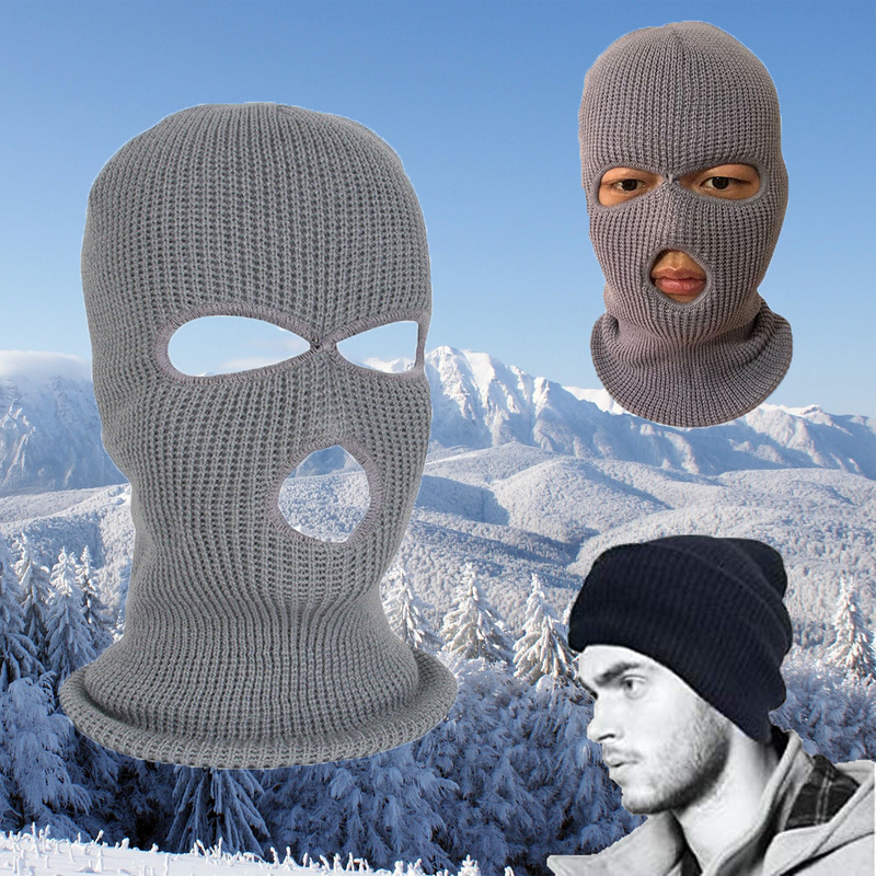 Winter Balaclava 3 Hole Full Face Cap For Face Mask Motorcycle Army Tactical Mask Outdoor Riding Ski Mask Winter Cap Head Cover
