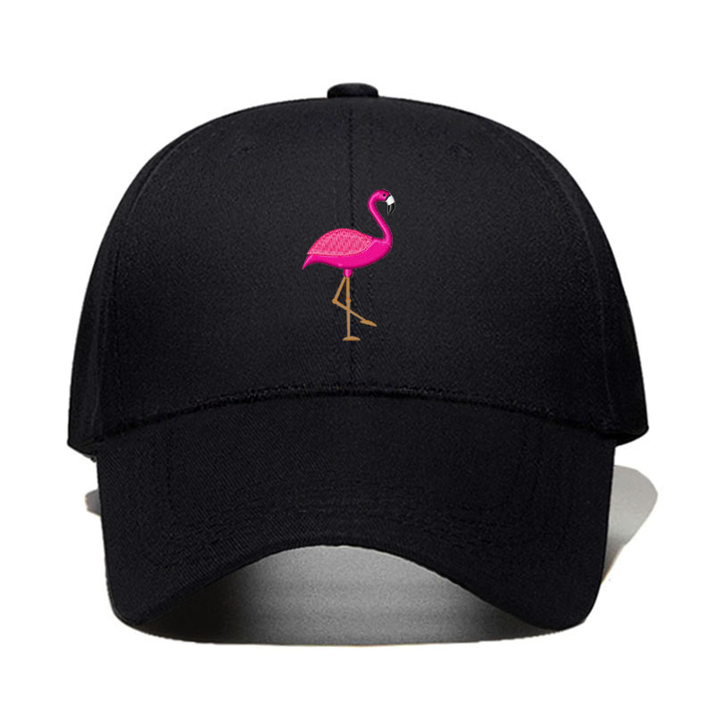 2019 New Style 2019 New Flamingo Embroidery Design Basebll Cap Cotton Hat Fashion Dad Hat Spring And Autumn Golf Cap Women Hat Dropshipping Modern Design