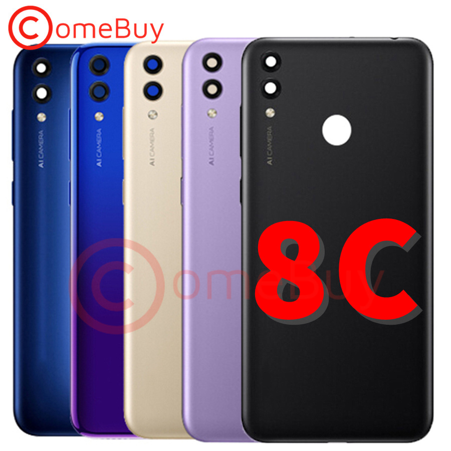 For Huawei Honor 8C Back Battery Cover Door Rear Housing Case With Sim Tray For Honor 8C Battery Cover Replacement BKK-L21