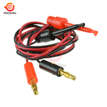 """1 пара 4 мм разъем типа """"банан"""" для тестирования крючка зажим свинцовый кабель позолоченный для измерительный наконечник мультиметра Кабельный соединитель оборудования"""