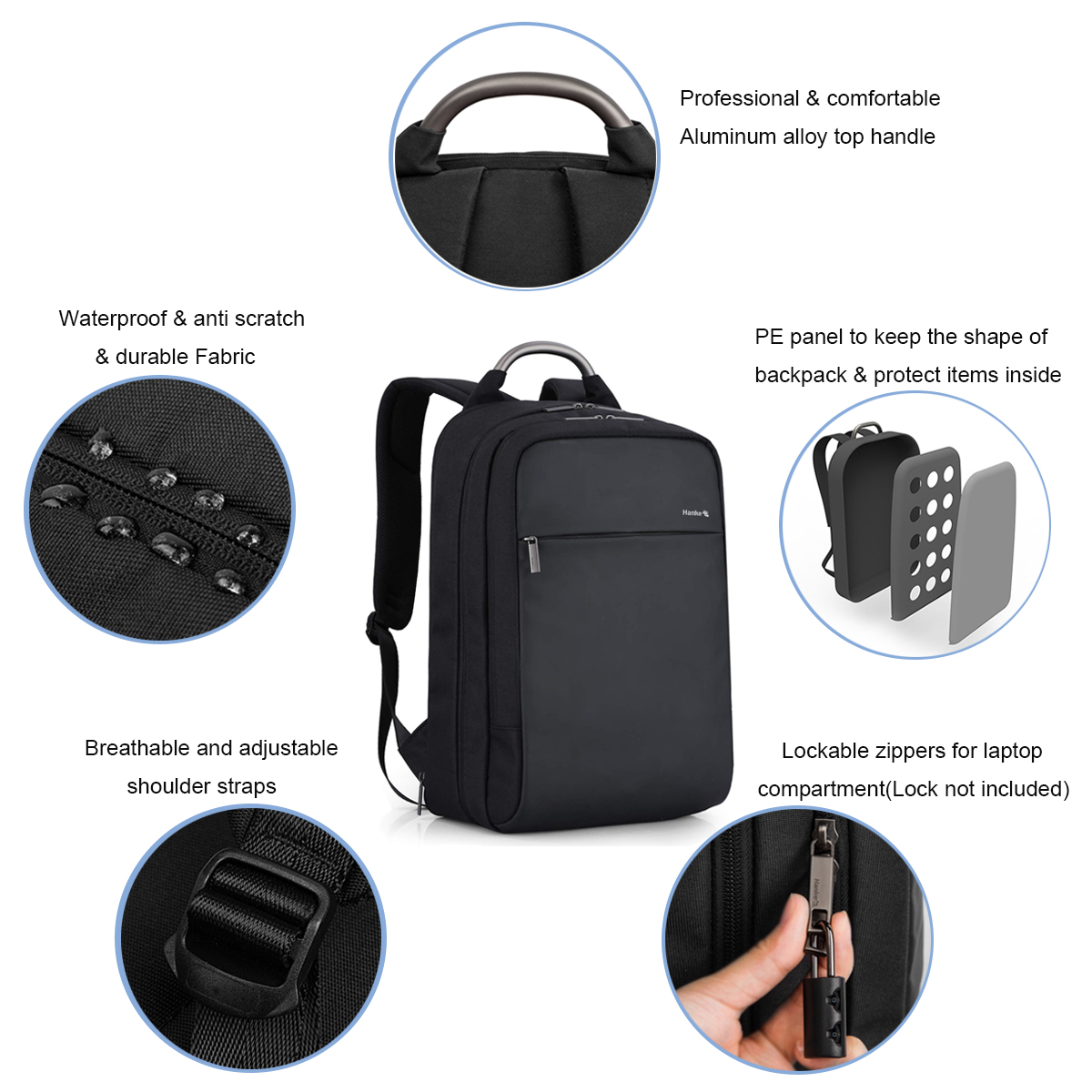 Image 4 - Anti theft Expandable Laptop Men Backpack Male Schoolbag Locked  Female Travel Business Backpacks Women RFID Blocking College Bagbagpack  fashionfashion bagpacklaptop backpack waterproof