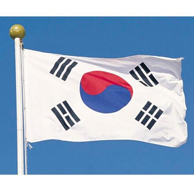 Grand drapeau de corée du sud Polyester la bannière nationale coréenne 3x5ft Taegeukgi défilé/Festival/décoration de la maison nouvelle mode