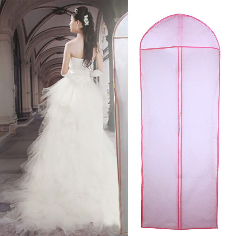 US 1.8M Garment Extra Long Dust Cover Storage Bag for Wedding Dress Bridal Dress