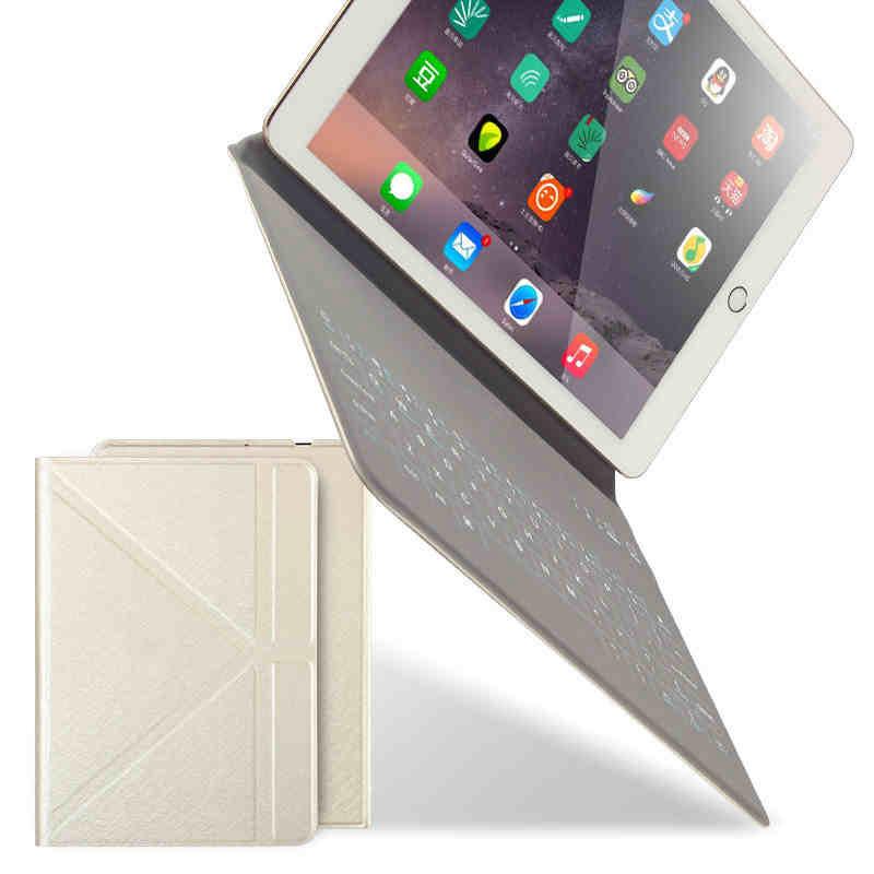 Desxz Беспроводной Bluetooth клавиатура для iPad 9,7 Air 2/3/4 2018 2017 тонкий корпус чехол подставка