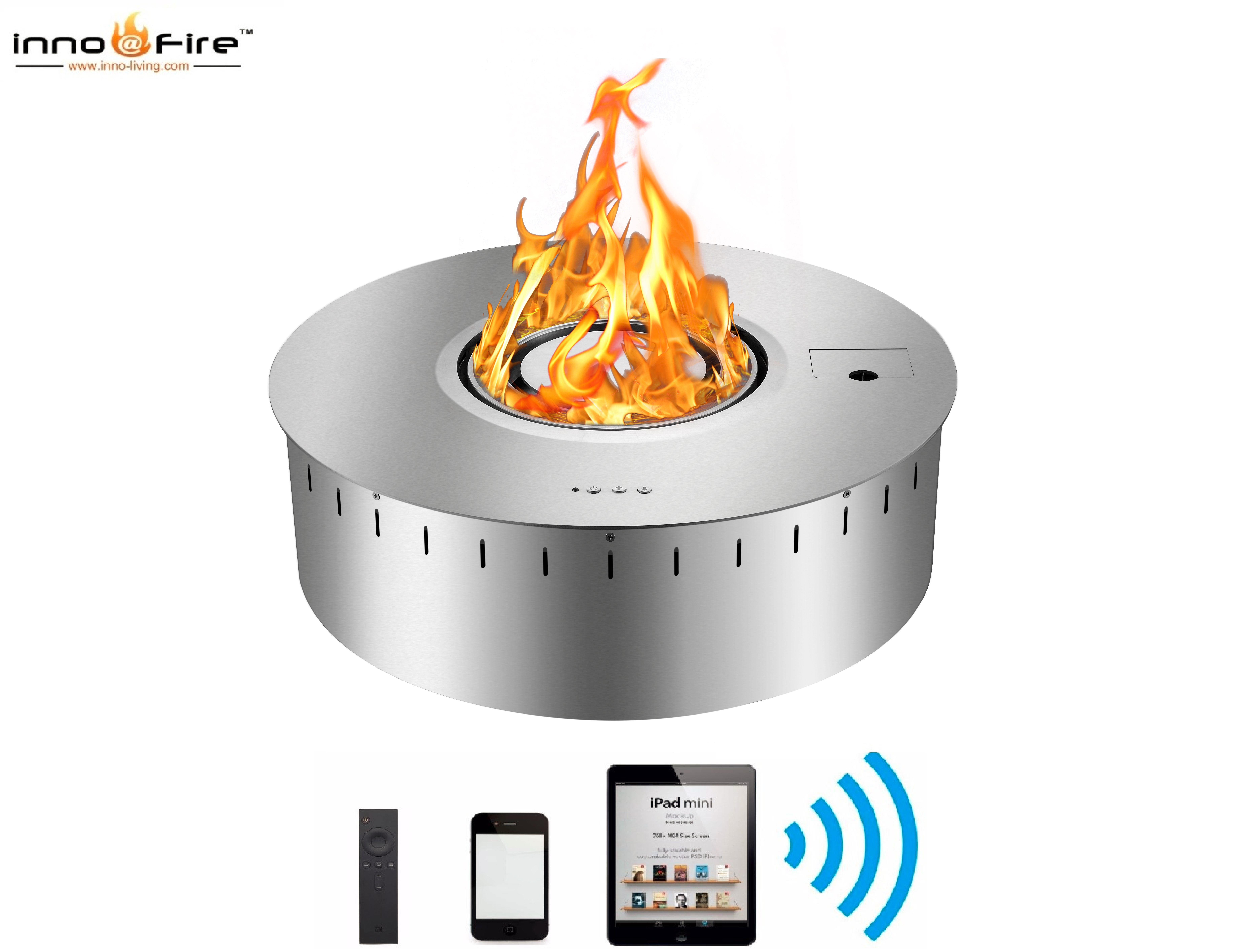 Hot Sale Smart Fire Place Bio Ethanol Burner Round