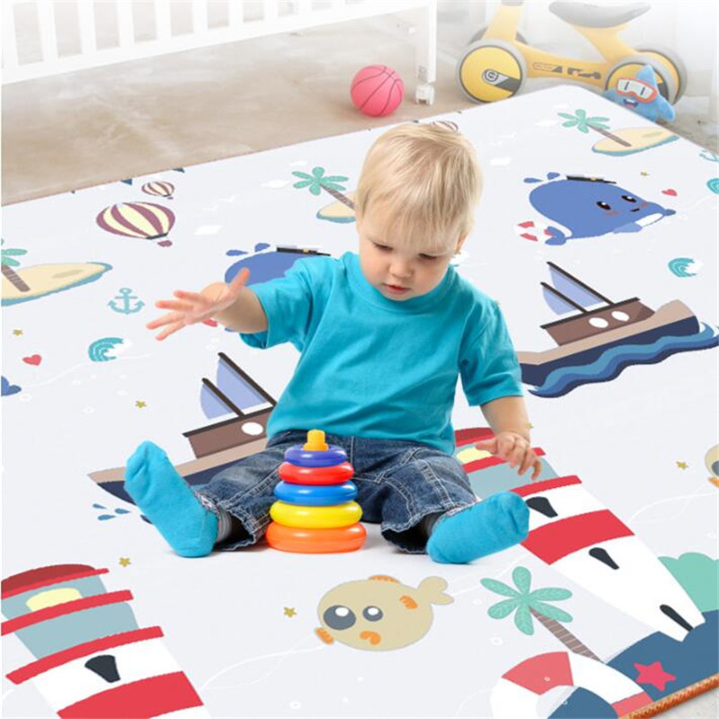 H325da0434ac5465e9929791d18b97f23b New Baby Crawling Mat Thick Living Room Children's Home Foam Animals Play Mat Moisture-proof Game Gym Rug Kids Carpet