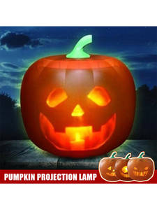 Projection-Lamp Lantern Decor-Props Pumpkin-Toy Flash-Talking Animated Home-Party Halloween