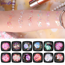 Holo Glitter Nail Sequins Powder Star Moon Heart Mix Nail Art Foil Flakes Paillette Self-adhesive Nail Art Decoration F579 10ml jar mix color nail art glitter powder holo gold hexagon aurora nail flakes sequins for a manicure nail art decorations new