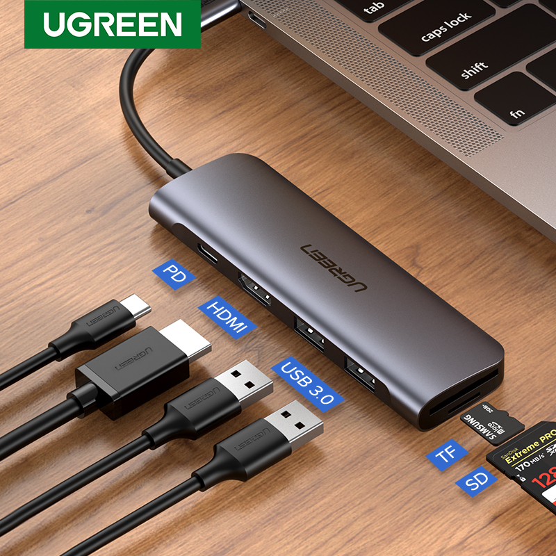 Ugreen USB C HUB Typ C zu Multi USB 3.0 HUB HDMI Adapter Dock für MacBook Pro Huawei Mate 30 USB-C 3,1 Splitter Port Typ C HUB