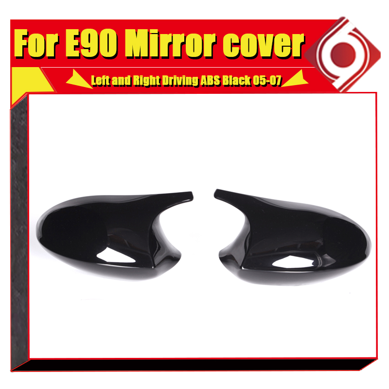 Image 3 - M3 Look Mirror Cover Cap Add on Style ABS Gloss Black For BMW E90 3 Series Sedan 1:1 Replacement 2 Pcs Side Mirror Cap 2005 2007-in Mirror & Covers from Automobiles & Motorcycles