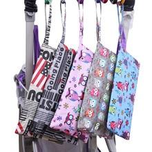 27*17cm Cartoon Single Wet Bag Pocket Baby Cloth Diaper Bag Waterproof Reusable Bags Traval Portable Storage Bags