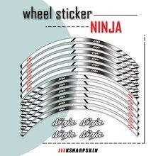 Moto rcycle przednie tylne koła naklejki moto odblaskowa naklejka na piasta koła naklejki dekoracyjne dla Ninja 650 400 1000 300 ninja650
