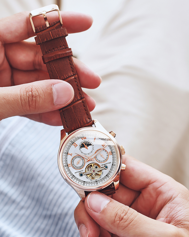 H325e171759ed4a37b48ea8007362f8e74 Skeleton Tourbillon Mechanical Watch Men Automatic Classic Rose Gold Leather Mechanical Wrist Watches Reloj Hombre 2018 Luxury