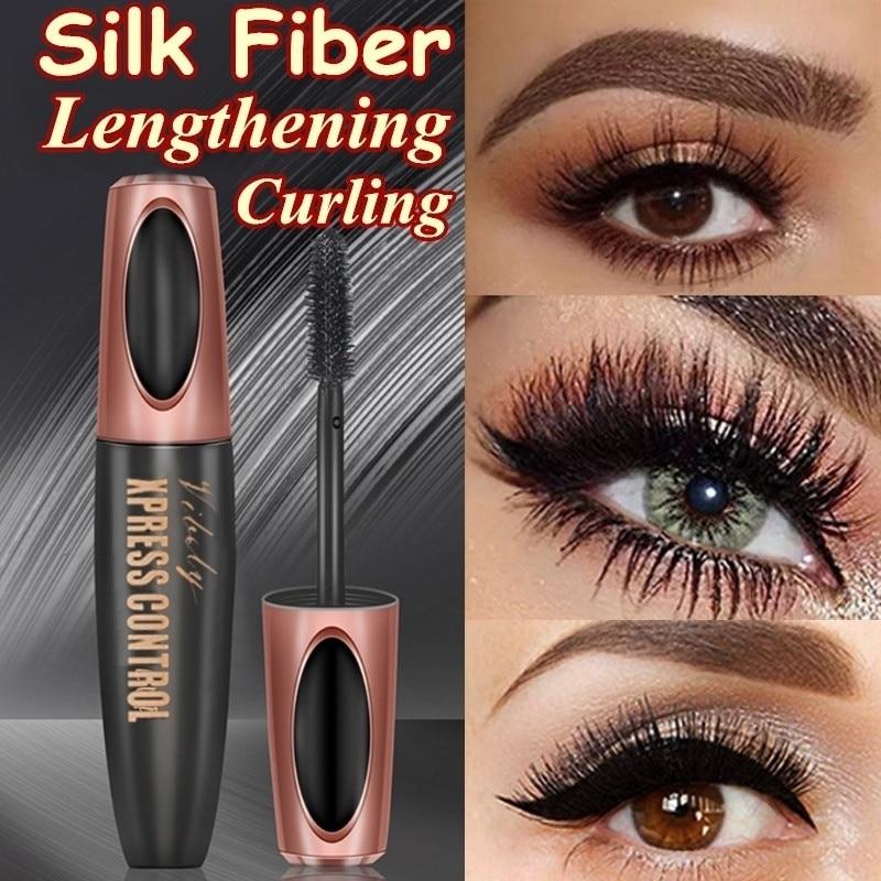 1Pcs Waterproof 4D Makeup Eyelash Mascara Eyelash Makeup Silk Fiber Lash Extension Lash Mascara Tubes Fashion Ladies Cosmetics