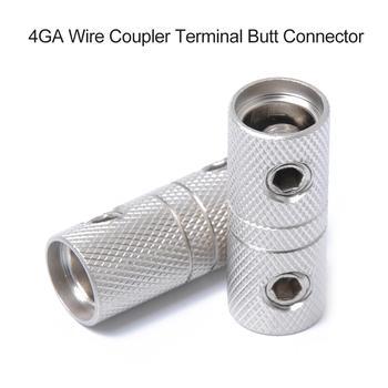 Elektronika samochodowa 1 para 4GA mosiądz przewód audio łącznik zaciski złącza stykowe tanie i dobre opinie Ai CAR FUN 36 0g Butt Connector