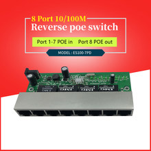 24v poe 8 reverse switch pcb board 8 porte 10/100M Ethernet reverse poe switch plus vlan