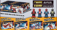 Duo Lepin Dlp535 Spider Man Series New Style Spider Man 4 in 1 Children Assembled Educational Small Building Block Toy