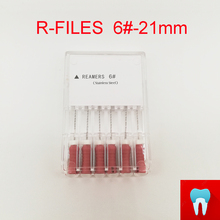6pcs 6# 21mm Dental Protaper Files Reamers Root Canal Dentist Materials Dentistry Instruments Hand Use Stainless Steel R