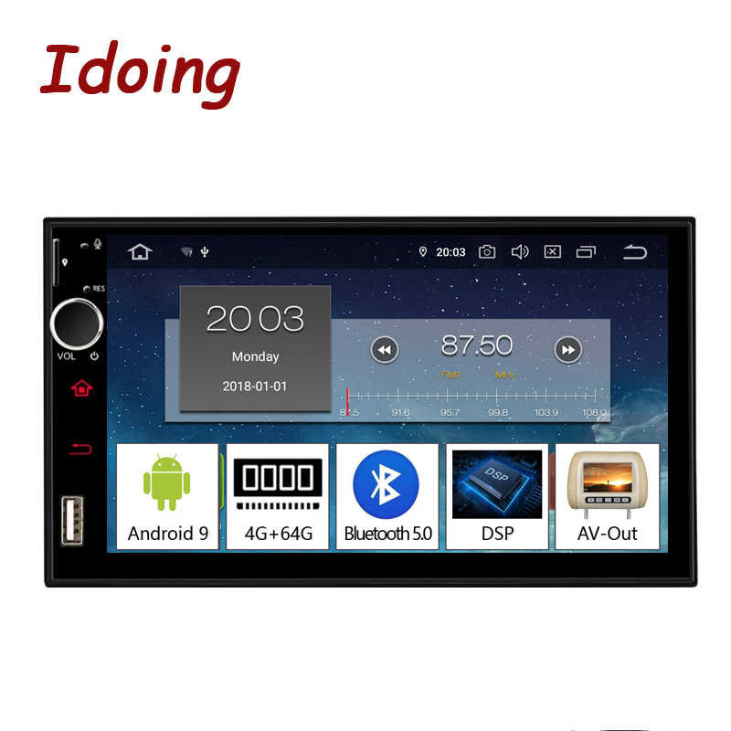 "Idoing 7 ""Android 9.0 4G + 64G Octa Core 2Din Video Per Universale Car Multimedia Radio Player 1080P DSP GPS + Glonass 2 din no DVD"