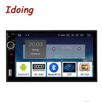 "Idoing 7 ""Android 9,0 4G + 64G Octa Core 2Din Video para coche Universal Multimedia reproductor de Radio 1080P DSP GPS + Glonass 2 din no DVD"