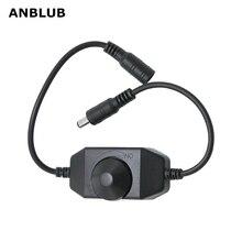 ANBLUB светодиодный диммер регулятор яркости для 3528 5050 5730 5630 Одноцветный ленточный светильник DC 12 В 24 в черный/белый