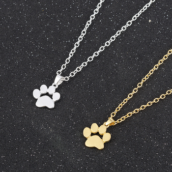 Fashion Cute Pets Dogs Footprints Paw Chain Pendant Necklace Necklaces & Pendants Jewelry for Women long necklace 1