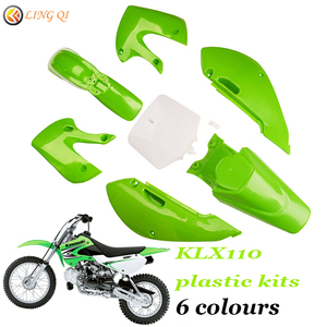 KLX110 motorcycle parts dirt bike plastic Fairing Fender Kit and number plate For KLX 110 KX65 DRZ110 RM65