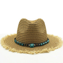 New Summer Sun Hats For women man Panama Hat straw beach hat fashion UV sun Peotection travel cap(China)