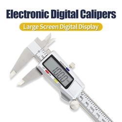 Electronic Digital Caliper Metal Vernier Calipers 0-150mm 6Inch Micrometer Stainless Steel Measuring Tool Instrument Caliper