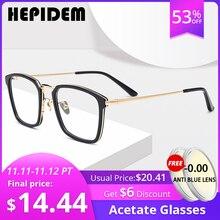 アセテート光学メガネフレーム男性正方形処方眼鏡の女性オタク近視眼鏡製のメガネ
