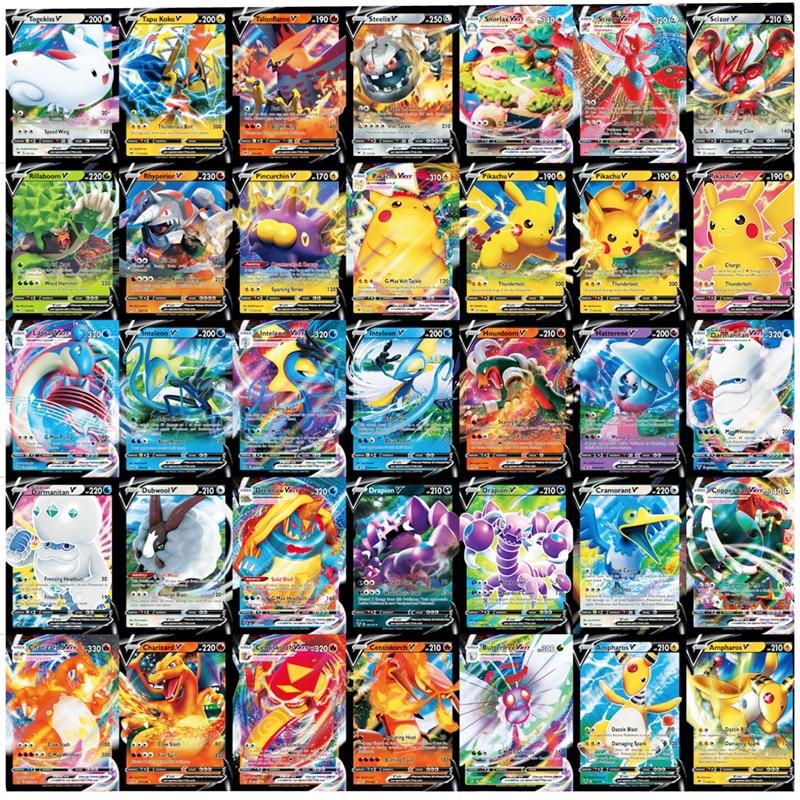 Nowa karta pokemonowa z 60 VMAX gry Battle Carte Trading angielska wersja 200 GX Tag Team 30 EX MEGA 20 ENERGY Shining Cards