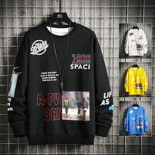 Hoodies Sweatshirts White For Men Male Black Casual Hip Hop