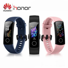 Original Huawei Honor Band 5 Blood Oxygen Amoled Touch Screen Detect Swim Posture Heart Rate Sleep Snap Smart Bracelet