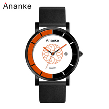 ANANKE Luxury Brand Mens Relogio Masculino30ATM Waterproof Belt Quartz Watches Business Casual Personality Dial Fashion