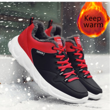 Sport-Shoes White Sneakers Outdoor Male Casual-Size Winter Men Lace-Up for Man Size-48