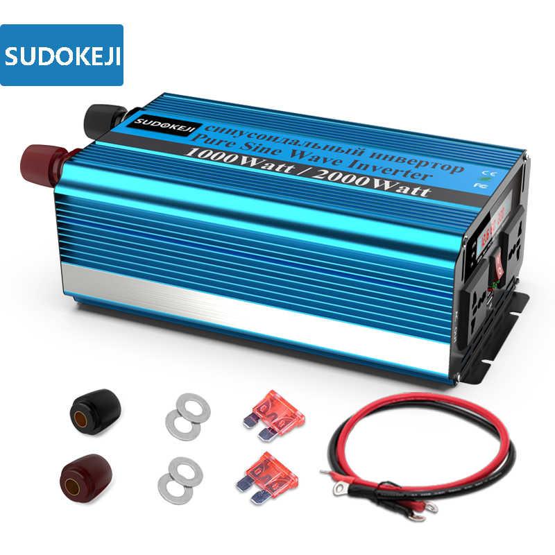 SUDOKEJI Power Inverter 3000W Peak Power 6000W DC 12V to AC 240V Converter Modified Sine Wave Inverter with LCD Display 2 AC Universal Sockets Wireless Remote Controller USB Ports Inverter
