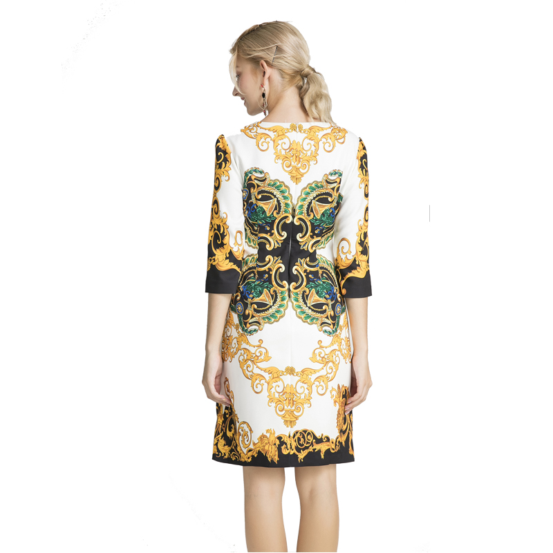 Ropa mujer 2019 herbst Fashion Runway poleras Hohe Qualität damen poleras pailletten kleid Wunderschönen Diamant rundhals büro kleid-in Kleider aus Damenbekleidung bei  Gruppe 2