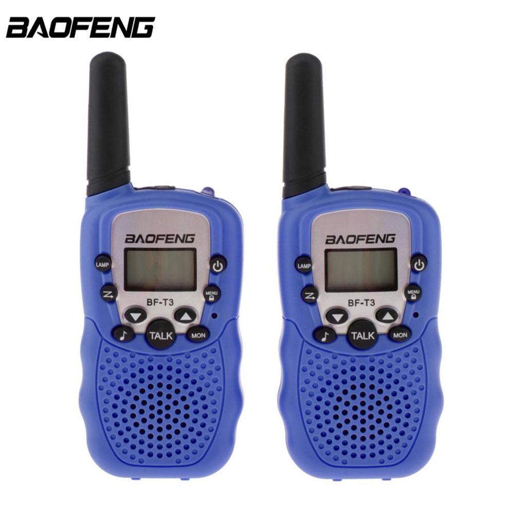2 шт. оптовая продажа детская мини Детская UHF рация BF-T3 Baofeng FRS двухстороннее радио Comunicador T3 Удобная рация КВ трансивер