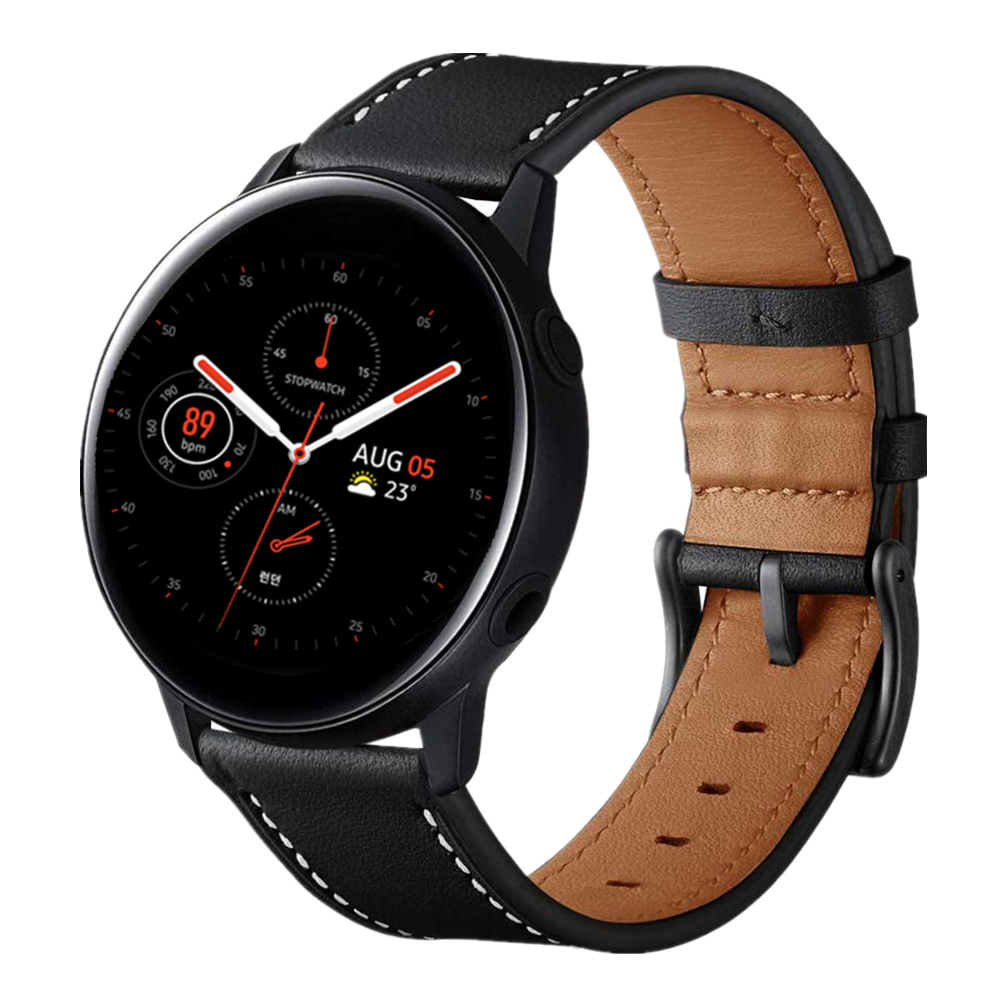 Watchband For Samsung Galaxy Watch Active 2 40mm 44mm Band 20mm Genuine Leather Wristband Strap For Gear Sport Bracelet Belt