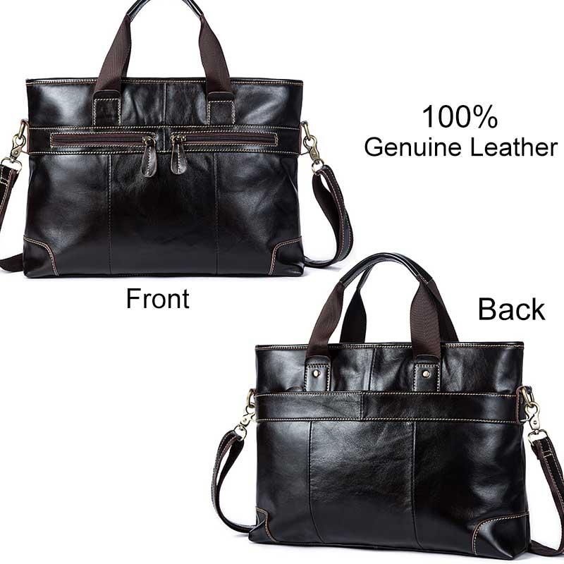 MVA Leder Laptop Tasche Aktentasche Männlichen Echtem Leder Handtaschen Tote Männer Messenger Bags Business Aktentaschen tasche männer für dokumente-in Aktentaschen aus Gepäck & Taschen bei  Gruppe 3
