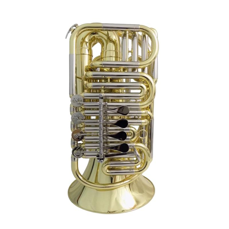 """BBb, CC, EEb, F ключ путешествия туба 5 кг колокол 12,"""" Высота 32,3"""" желтый Латунь Мини туба Музыкальные инструменты профессиональный"""