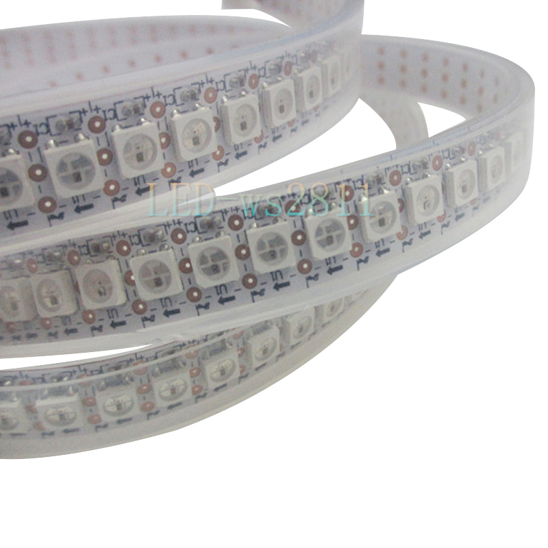 Image 2 - 144 pikseli 1m diody LED WS2812B 2812 WS, 2812 Chip LED WS2811 IC cyfrowy 5050 SMD listwy RGB LED DC5Vstrip necklacestripped wallpaperstrip rgb -