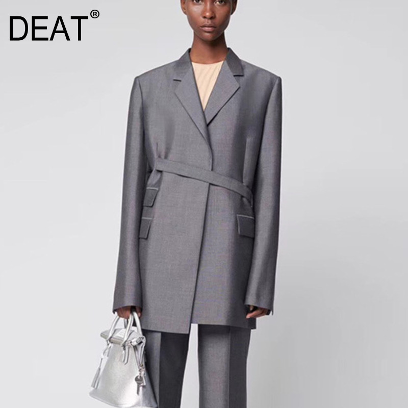 DEAT 2020 NEW SPRING And Summer Fashion Women Clothes Notched Collar Full Sleeves Vintage Pocket Blazer OL WK66902L