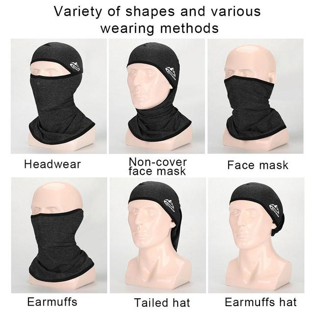 Unisex Outdoor Motorcycle Riding Face Mask Cover Cool Seamless Mask Multifunctional Sports Anti-fall Magic Headscarves Drop Ship 4
