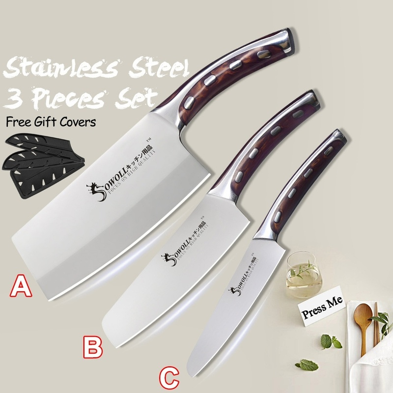 4Cr13 Chef Knife 7 inch Chinese Kitchen Knives Meat Fish Vegetables Slicing Knife Super Sharp Stainless Steel Kitchen Knife Set 1