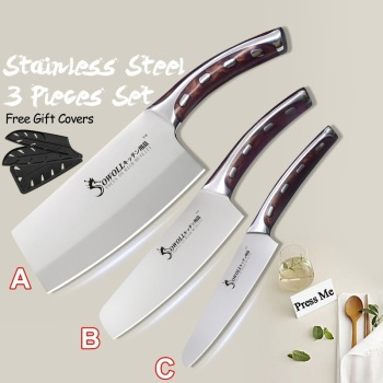 4Cr13 Chef Knife 7 inch Chinese Kitchen Knives Meat Fish Vegetables Slicing Knife Super Sharp Stainless Steel Kitchen Knife Set 6pcs stainless steel kitchen knife set bread knife meat fish cleaver knife chef knives set fruit vegetable knife