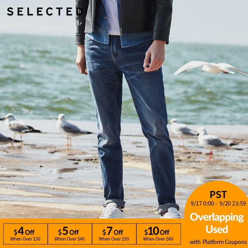SELECTED New Men's Casual Cotton-containing Micro-elastic Tapered Denim Pants C|418232516