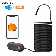 5.0MP Wireless Endoscope Inspection 3x Digital Zoom Camera IP67 Waterproof WiFi Borescope Snake Camera Semi-Rigid Cable 5M/10M