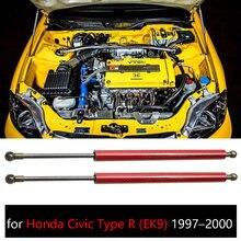 Para Honda Civic Type R (EK9) 1997-2000 frente capucha capó amortiguador modificar de fibra de carbono de puntales Shock levantar apoya