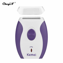 Kemei Rechargeable Women Epilator Electric Lady Shaver For Body Armpit Underarm Leg Depilador